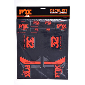 Fox Racing Shox Decal 2017 AM Kit de Pegatinas, red